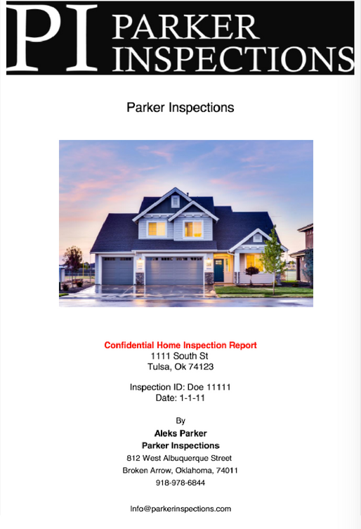 Intro home inspection report page 1