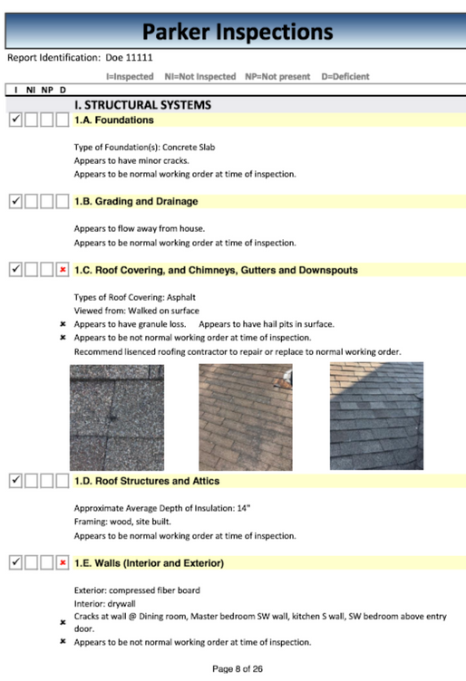Structural report page 1
